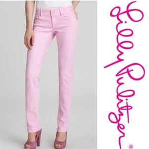Lilly Pulitzer Worth Staight Jeans in Pink